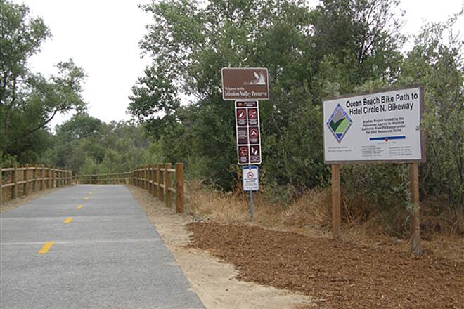 San Diego River Trail  New section in Mission Valley