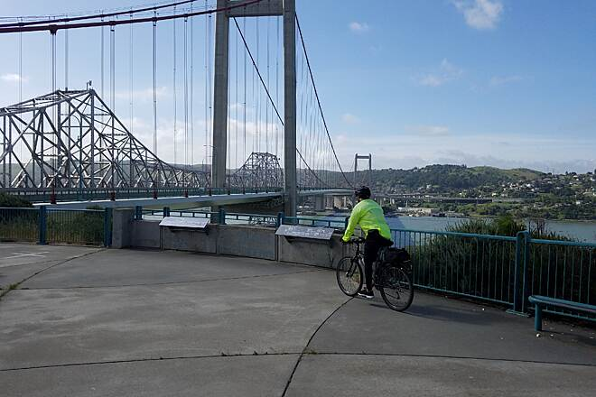 San Francisco Bay Trail Carquinez Bridge View from Vallejo overlook