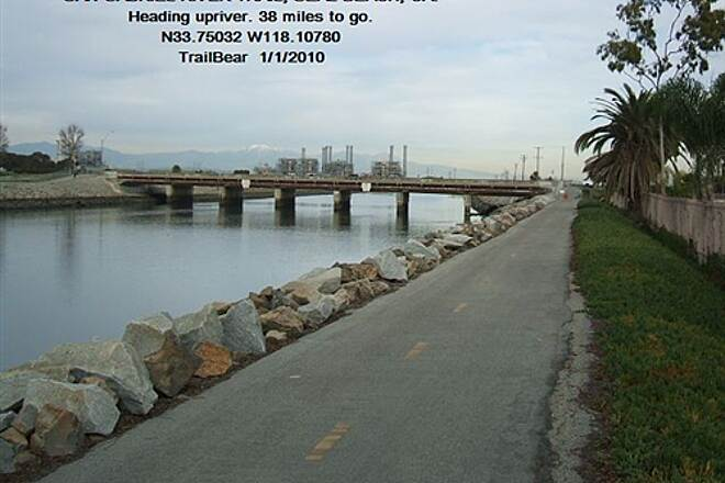 San Gabriel River Trail San Gabriel River Trail, CA That power plant is a landmark around here.