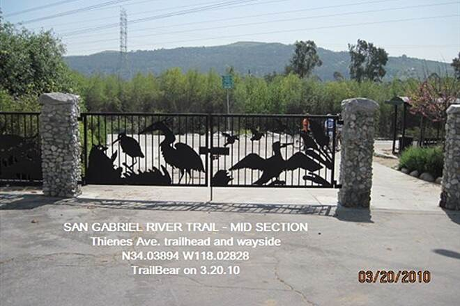 San Gabriel River Trail SAN GABRIEL RIVER TRAIL - MID SECTION Delightful gates