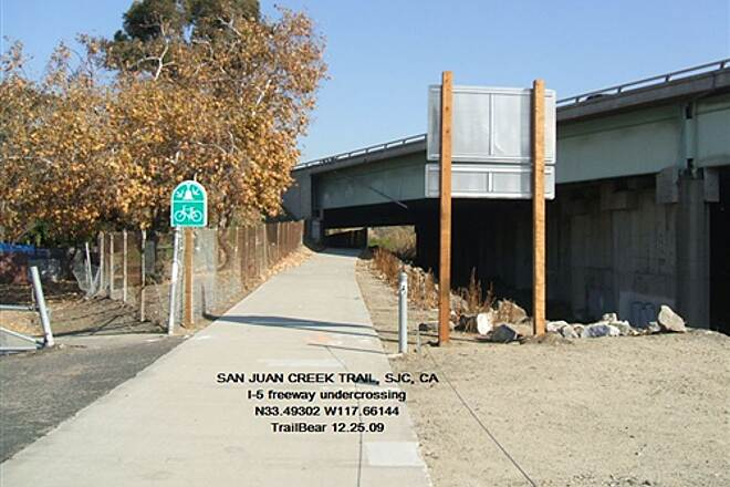 San Juan Creek Trail SAN JUAN CREEK TRAIL, CA Under the freeway.