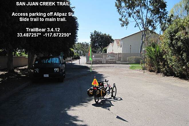 San Juan Creek Trail SAN JUAN CREEK TRAIL Alipaz St access parking lot and spur trail