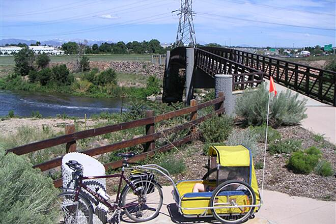 Sand Creek Regional Greenway  Bridge connecting Sand Creek Greenway with South Platte River Trail