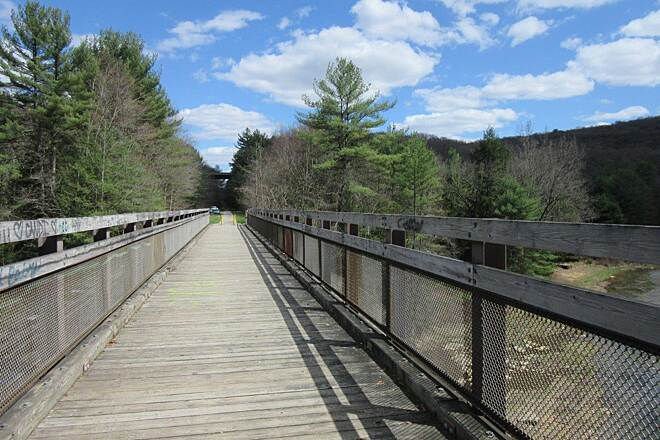 Sandy Creek Trail Bridge along the trail Bridge along the trail crosses the Sandy Creek-April 2015