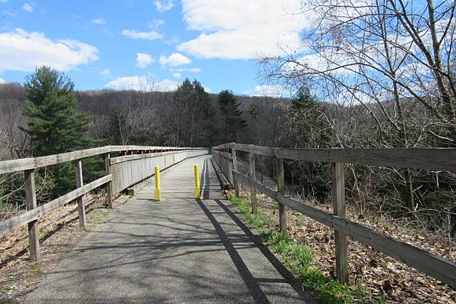 Sandy Creek Trail Bridge - Trail Bridge along the trial - April 2015