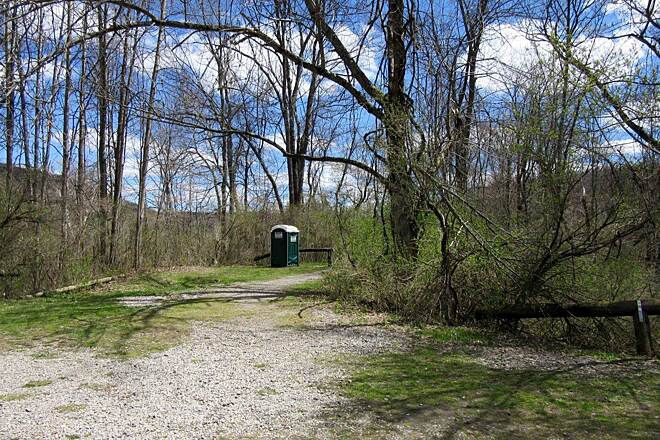 Sandy Creek Trail Belmar Parking Lot Belmar Parking lot and portable restroom-April 2015