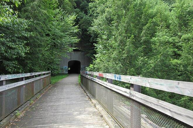 Sandy Creek Trail Tunnel Mays Mill Tunnel-July 2015