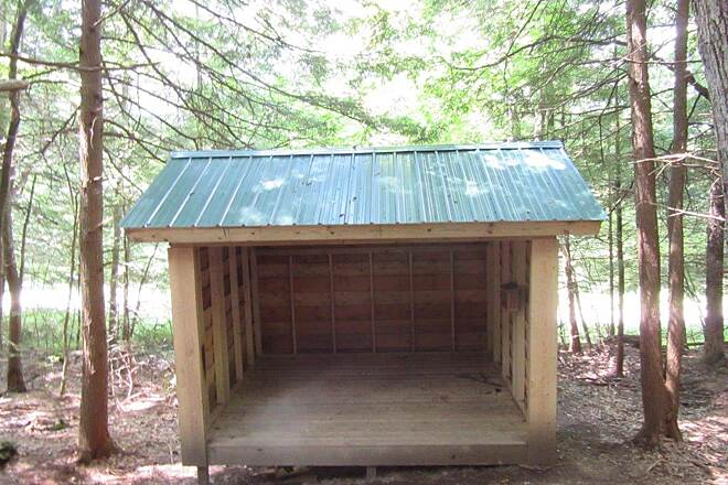 Sandy Creek Trail (New) Shelter New shelter constructed June, 2015