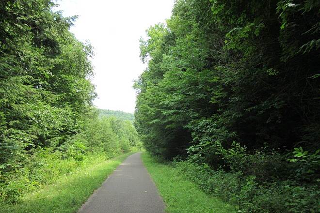 Sandy Creek Trail Along the trail Riding along the trail-July 2015