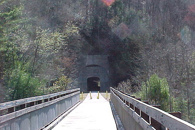 Sandy Creek Trail Tunnel along the path