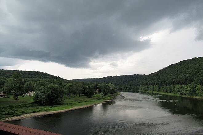 Sandy Creek Trail Storm Clouds coming - August, 2018 Storm clouds over the Allegheny River from the Belmar Bridge.  August, 2018