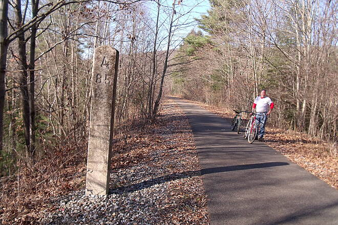 Sandy Creek Trail New York Central Milepost A85/B50