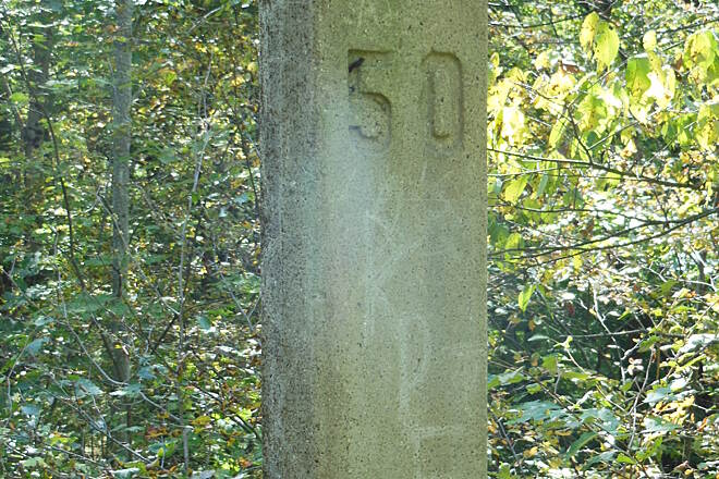 Sandy Creek Trail Mile Marker
