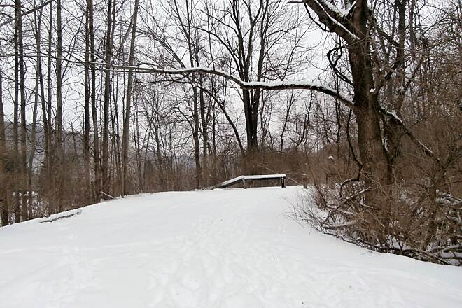 Sandy Creek Trail Snow! February, 2014 Near the parking lot at Belmar.