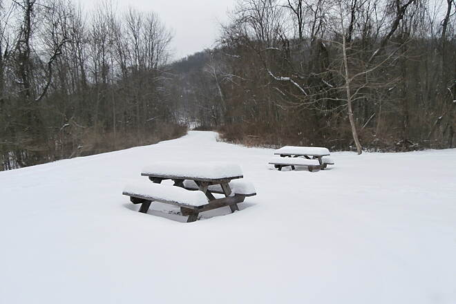 Sandy Creek Trail Picnic Tables Picnic Tables , February 2014