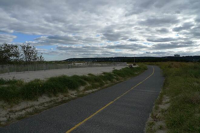 Sandy Hook Multi-Use Pathway Trail section at ocean beaches