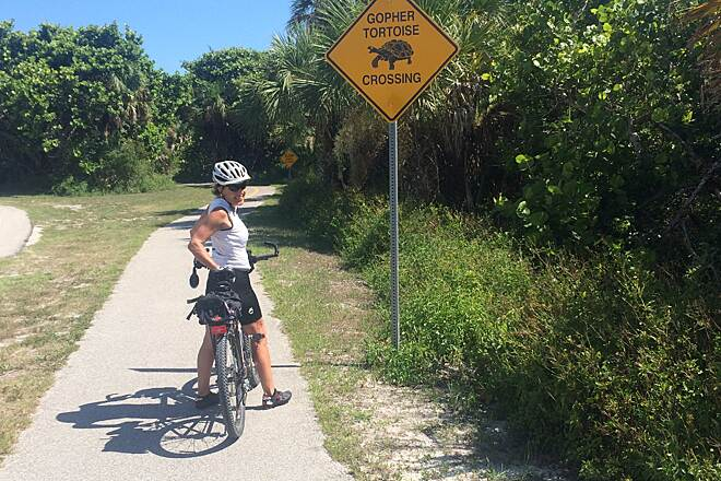 Sanibel Island Shared-Use Paths gopher tortoise crossings
