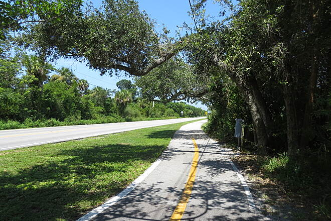 Sanibel Island Shared-Use Paths Sanibel Island Shared-Use Path Much of the trail parallels the island's main street, offering easy access to its many attractions.