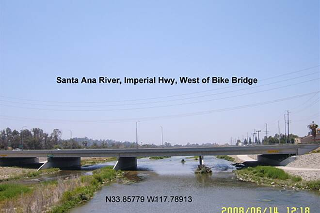 Santa Ana River Trail Santa River Imperial Hwy Bridge West of Bike Bridge