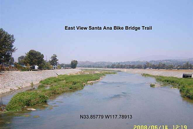 Santa Ana River Trail Santa Ana River East of Bike Bridge