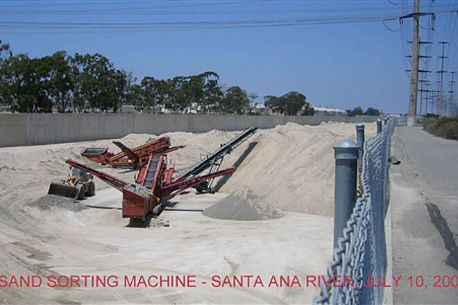 Santa Ana River Trail Sand Sorting Machine on the Santa Ana River Trail