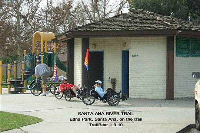 Santa Ana River Trail Santa Ana River Trail One of the few restrooms on the trail.  If only the drains worked.