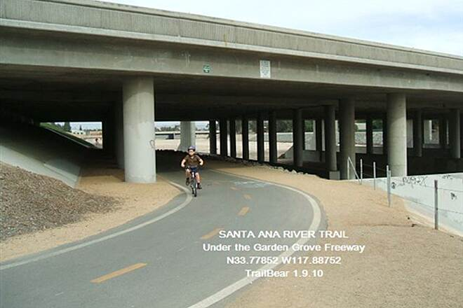 Santa Ana River Trail Santa Ana River Trail Golf course ends here. Orange Crush begins.