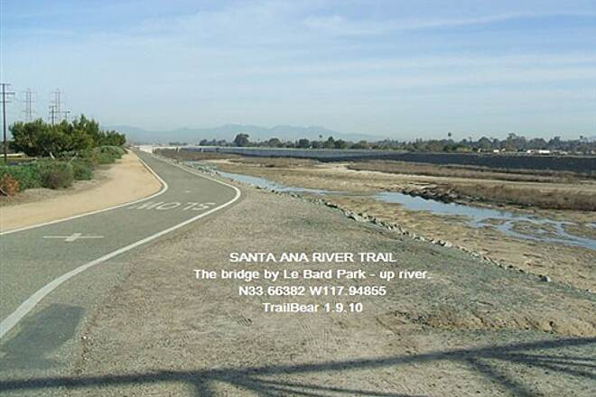 Santa Ana River Trail Santa Ana River Trail, CA The view upriver.