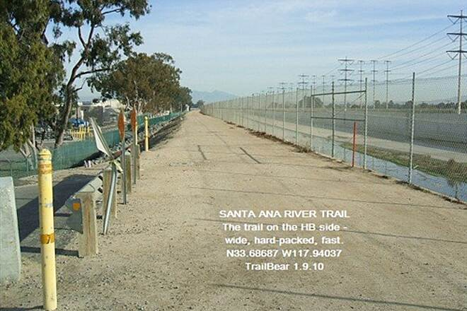 Santa Ana River Trail Santa Ana River Trail, CA Sure beats riding railroad ballast.