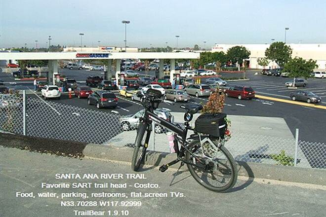 Santa Ana River Trail Santa Ana River Trail, CA Costco and Carl's Jr. and more - a good commercial trail head.