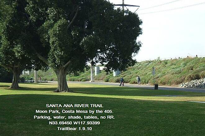 Santa Ana River Trail Santa Ana River Trail, CA Tables, water, shade, parking but no RR.