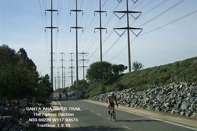 Santa Ana River Trail Santa Ana River Trail, CA Avenue of the Pylons is an interesting section.