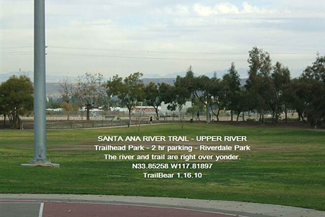 Santa Ana River Trail Santa Ana River Trail - Middle Section A nice trailside park - but limited parking time.
