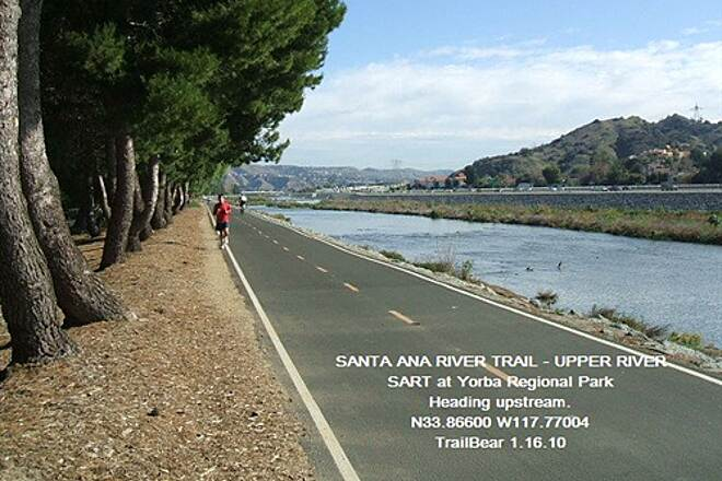 Santa Ana River Trail Santa Ana River Trail - Upper Section Yorba Regional Park is a very plesant park