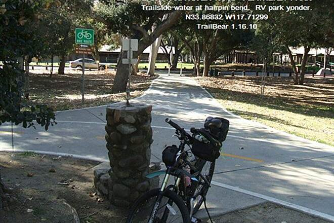 Santa Ana River Trail Santa Ana River Trail - Upper Section Rare trailside water point by RV park.