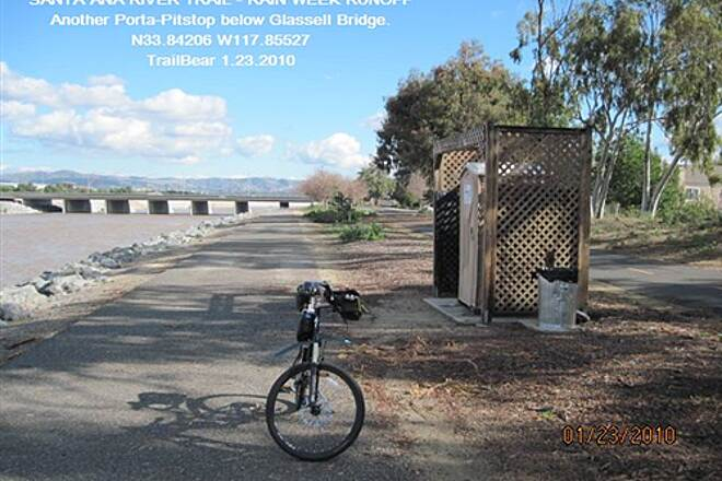Santa Ana River Trail SANTA ANA RIVER TRAIL - YORBA TO KATELLA A handy Porta-Pitsop below Glissell.