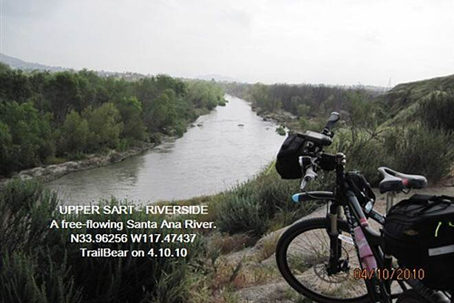 Santa Ana River Trail UPPER SART - RIVERSIDE The Santa Ana does flow free - up here.