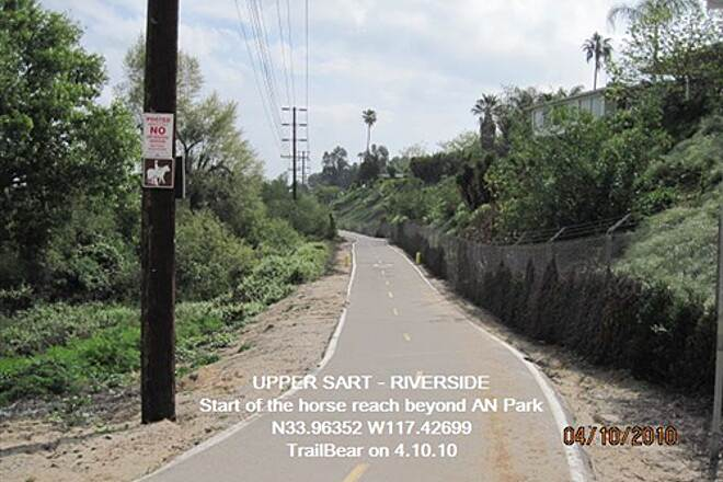 Santa Ana River Trail UPPER SART - RIVERSIDE Start of horse county beyond Anza Narrows Park