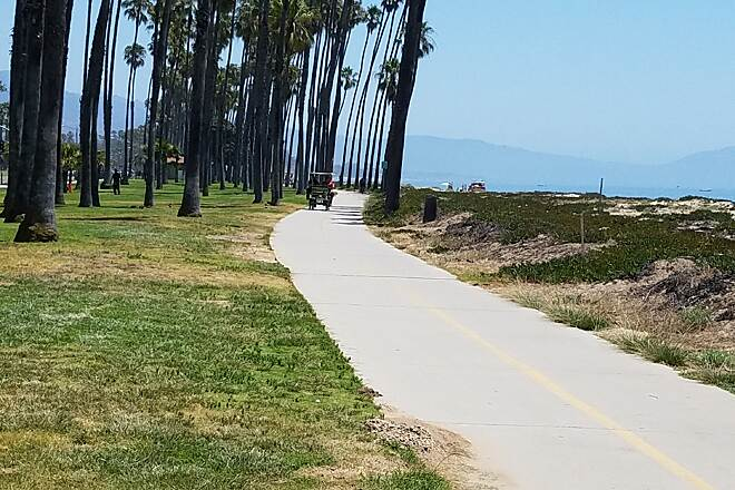 Santa Barbara Beach Trail South end Popular beach trail. Lots of users. Ride with caution.