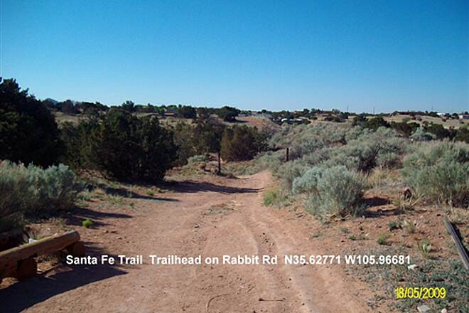 Santa Fe Rail-Trail Santa Fe Trailhead South from Rabbit Rd