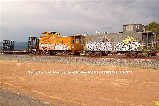 Santa Fe Rail-Trail Santa Fe Trail (asphalt) RR Car Art Work