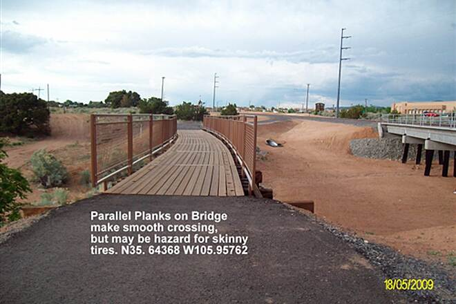 Santa Fe Rail-Trail Santa Fe Bridge Parallel Planks