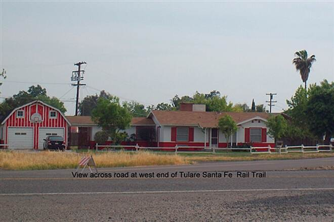 Santa Fe Trail (Tulare) Tulare Santa Fe Trail Scene across road at west end of trail