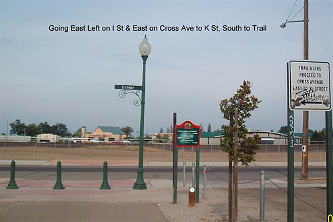 Santa Fe Trail (Tulare) Tulare Santa Fe  North on 'I' St to Crossing Ave