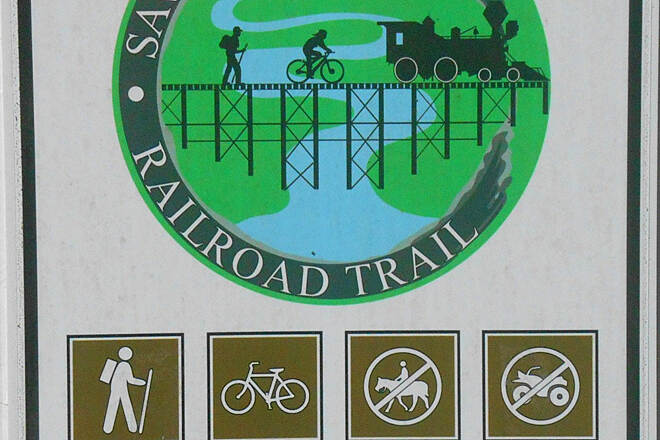 Savannah Valley Railroad Trail TrailLink.1 Trail Head Sign
