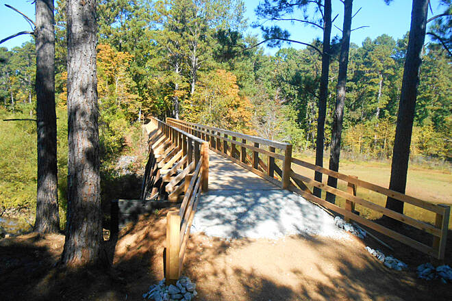 Savannah Valley Railroad Trail TrailLink.6 Mill Creek Trestle overview