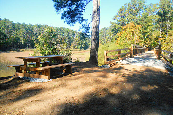 Savannah Valley Railroad Trail TrailLink.7 Picnic area at Mill Creek Trestle