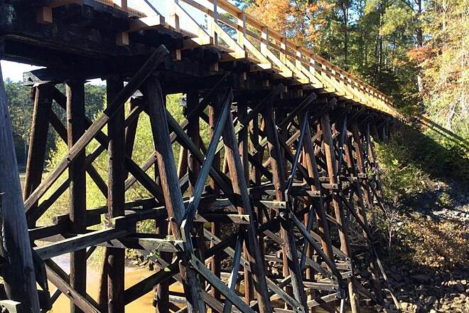 Savannah Valley Railroad Trail SVRT Trestle.