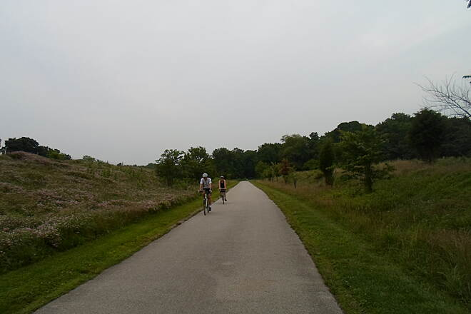 Schuylkill River Trail Schuylkill River Trail Cyclists enjoying an evening ride on the trail in Valley Forge National Historic Park.