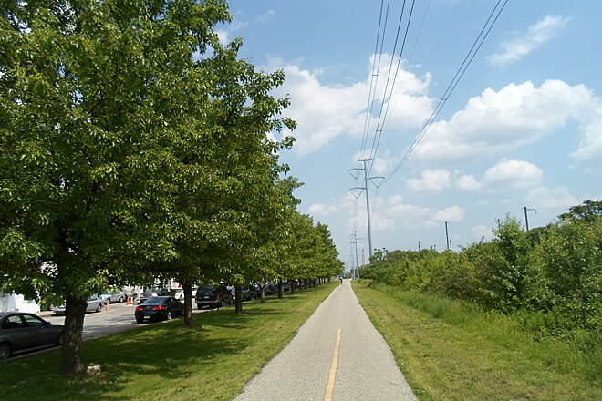 Schuylkill River Trail Schuylkill River Trail Tree-lined section through Norristown's east end neighborhoods.